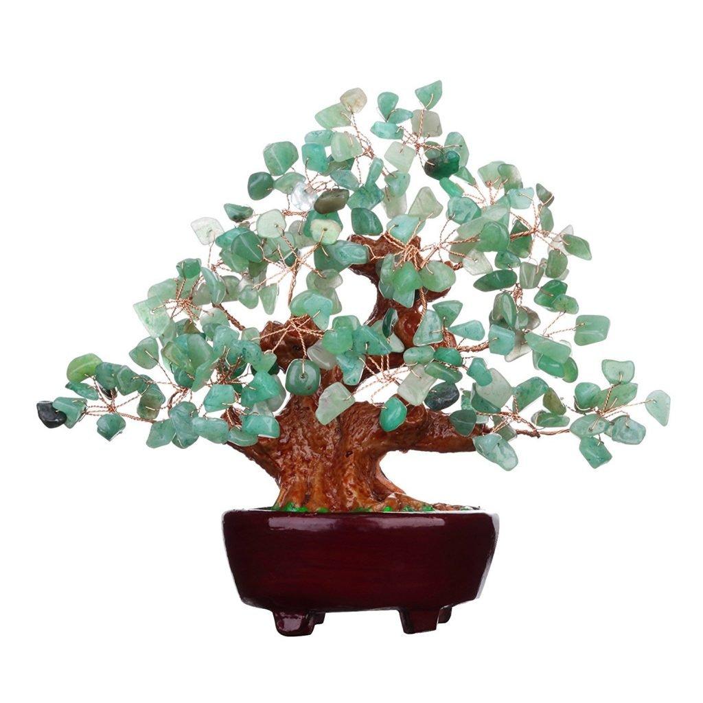 Green Feng Shui Quartz Stone Money Tree